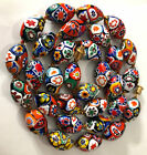 Vintage Oval Murano Millefiori Necklace Italian Venetian Beads Knotted Estate