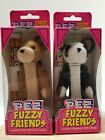 LOT OF 2 FUZZY FRIENDS PEZ COLLECTABLE BEAR SERIES JADE AND BUDDY BEAR NEW