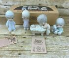 Precious Moments For God So Loved the World Nativity E5382 4 Pc with Box