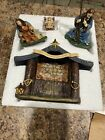Thomas Kinkade Hawthorne Village Nativity Set Holy Night Creche New