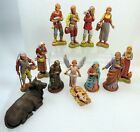 Vtg 13 Pc Christmas Nativity Figurines Landi Italy Holy Family Wise Men Animals