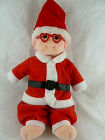 Ty Beanie Kids Doll Luvie in Santa Claus suit Pink hair Heart glasses Christmas
