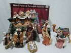Kirkland Signature 10 Piece Large Porcelain Nativity Set With Box