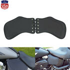 Motorcycle Heat Saddle Shield Deflector Black Leather Fit For Harley Sportster