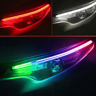 2x LED RGB SUV Car Styling Daytime Running Light Strip Accessories For Headlight