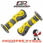 Progrip Handlebar Grips 733 Dual Compound Scooter Moped Grips Yellow Black Set
