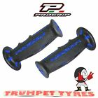 Progrip Handlebar Grips 601 Dual Compound Scooter Moped Grips Black Blue Set