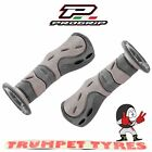 Progrip Handlebar Grips 733 Dual Compound Scooter Moped Grips Grey Black Set