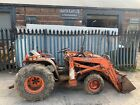 KUBOTA B8200 COMPACT TRACTOR LOADER AN BACK ACTOR MINI DIGGER SPARES OR REPAIRS