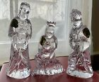 NIB Waterford Crystal 3 Kings Wise Men Magi Nativity BALTHASAR GASPAR MELCHIOR