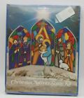 Aaron Supply EZE Form Christmas Nativity Scene Kit Stained Glass Look