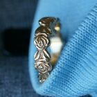 Retired  VERY RARE James Avery 14k Gold ETRENITY ROSE BAND Size 525