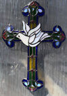 Franklin Mint Stained Glass Cross with Dove