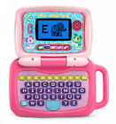 2 In 1 Leaptop Touch Cute Pretend Laptop For Toddlers Abc Games Music Kids Pink