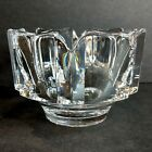 ORREFORS Swedish Heavy Crystal Glass 45x325 Footed Crown Bowl Signed