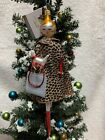 De Carlini Italian Italy Neiman Marcus Shopping Lady Dog Puppy Glass Ornament