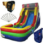 NEW 17ft High Commercial Inflatable Bounce House Water Slide