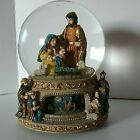 Enesco Nativity Musical Revolving Base Snow Globe O Little Town of Bethlehem