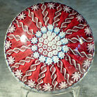 3 Perthshire 16 Spoke Radial Styled Millefiori Paperweight Center P Cane