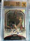 2011 Topps UFC Finest Octafractors - JON JONES 8 - BGS 9.5 - 1st on Card Auto