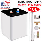 10L 110V 95F 167F Electric Tankless Hot Water Heater Kitchen Bathroom Use USA