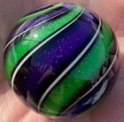 Hot House Glass Dichroic banded swirl marble 172 44mm 166