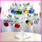 Crystal Apple Tree Ornament Glass Crafts Home Decor Figurines Gifts Souvenirs