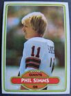 1980 Topps Football Phil Simms ROOKIE RC #225 🔥 NM-MT++ (PSA 9 or better???)