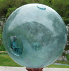 JAPANESE GLASS Fishing Float XL 12D Teal Blue BARE 2 Patches + Inclusion 20AH