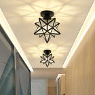 Moravian Star Ceiling Lamp Frosted Glass Pendant Light Ceiling Fixture Lighting
