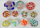 11pc Murano Italy Millefiori Glass Paperweight Lot Collection Frog
