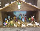 Nice 1960s Vintage Hard Plastic Musical Nativity Set From Jcpenny Catalog EUC