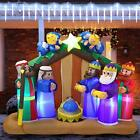 Joiedomi 6 FT Long Christmas Inflatable Nativity Scene Inflatable with Angels