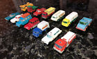 Vintage Lot 14 Matchbox Lesney Diecast trucks and cars