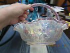 BEAUTIFUL FENTON BASKET HAND PAINTED  SIGNED BILL FENTON