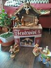 Vintage 1988 FONTANINI Italy NATIVITY 10 pieces w BOX collectible Creche