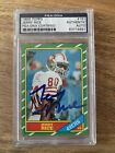 1986 Topps Jerry Rice Rookie Card #161 Autograph Auto PSA DNA Authentic Centered