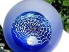 WILKERSON SPIDER WEB PAPERWEIGHT Clear Viewing PaneBlue Satin Surface 31983