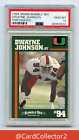 DWAYNE JOHNSON RC 1994 MIAMI BUMBLE BEE PERFORATED ROOKIE PSA 10 GEM MINT POP 30
