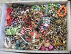 Huge Jewelry Lot 3 4 Pound Lbs Vintage Now Junk Craft Wear Pieces Parts Tangle