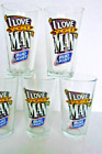 Set of 4 Budweiser Bud Light I Love You Man Pint Beer Glass
