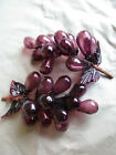 VINTAGE MID CENTURY MODERN BLOWN GLASS GRAPE FIG CLUSTER