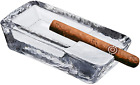Pasabahce Large Heavy Glass Cigar Ashtray For Men Outdoor Ash Tray For Patio