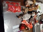 ty beanie babies lot, fortune, early w/out tags, wiggly, chipper, nuts vhtf