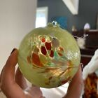 4 Hand Blown Glass Balls Friendship Witch Balls Yellow Red Blue Mulitcolo Suncat