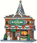 Lemax 35587 KGEM RADIO STATION Plymouth Corners Building Christmas Village S O R