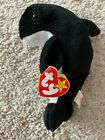 NEW RARE Ty Beanie Baby Waves The Whale With Echo The Dolphin Tags