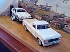 124 Diecast3 pc SetWhite 79 Ford F 150 Pickup1989 Ford Mustang GT  trailer
