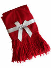 Red Beanie Hat & Neck Scarf Wrap Winter Combo Gift Set Acrylic Blend Rumba Red