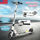 Kick Scooter Lightweight 2 Wheel Foldable Kids Adult Ride Fun Adjustable White